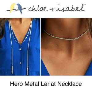 🆕 Hero Metal Lariat Necklace c+i